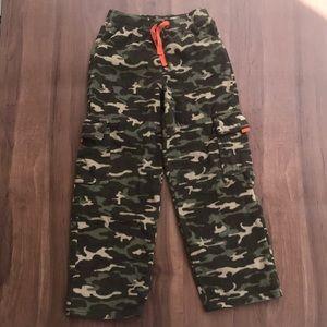 Fleece Camo Cargo Pants - 8